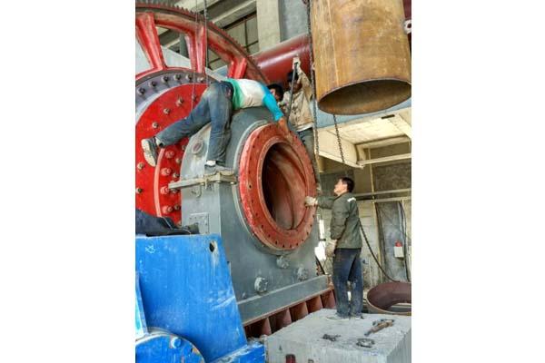 我公司配套的山西长治年产20万吨石灰生产线项目正在紧张有序进行安装